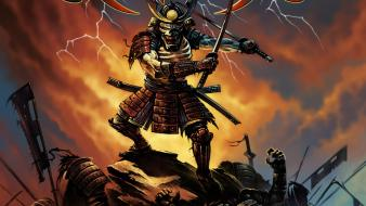 Katana roll album covers metal music wallpaper