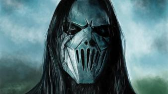 Masks guitars slipknot nu-metal guitarists mick thomson Wallpaper