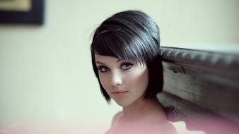 Mellisa clarke faces bangs black hair portraits wallpaper