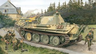Military tanks artwork pzkpfw 5 panther wallpaper