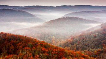 Mountains landscapes nature autumn forests hills fog wallpaper