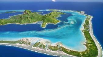 Nature reef tahiti around mount bora wallpaper