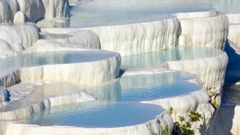 Nature turkey pamukkale hiérapolis travertine wallpaper