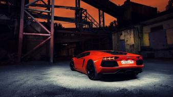 Night cars lamborghini vehicles aventador lp700-4 Wallpaper