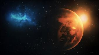 Outer space earth galaxy wallpaper