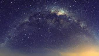 Outer space stars galaxies milky way Wallpaper