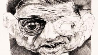 Philosophy writers caricature drawings jean-paul sartre wallpaper