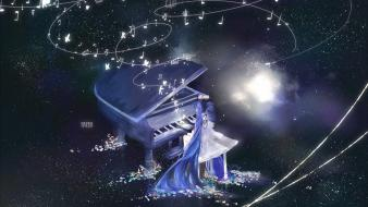 Piano musical notes wallpaper