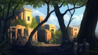Ruins men fantasy art digital artwork portuguese wallpaper