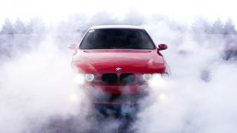 Smoke burnout bmw 5 series wallpaper