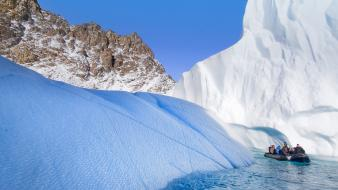 Sound icebergs greenland wallpaper