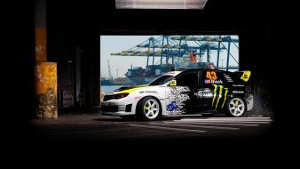 Subaru racing cars wallpaper