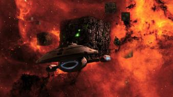 Supernova cubes science fiction uss voyager sci-fi Wallpaper