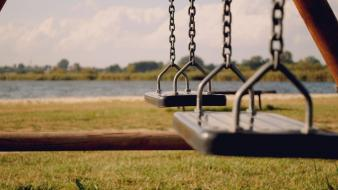 Swings children toys wallpaper