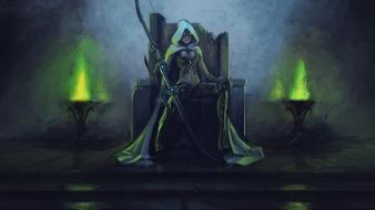 Throne capes gems glowing eyes archer hood wallpaper