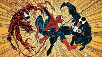 Venom spider-man carnage marvel comics wallpaper