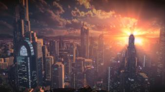 Video games cityscapes skyscrapers sunlight bulletstorm wallpaper