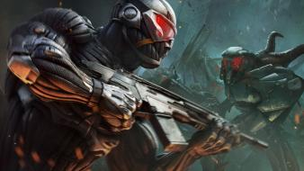 Video games crysis nanosuit wallpaper
