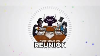 White circles monstercat reunion wallpaper