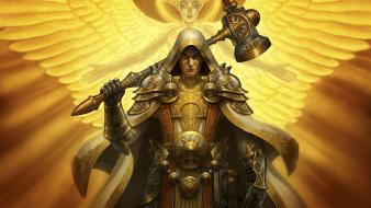 Wings fantasy art armor paladin artwork angel wallpaper