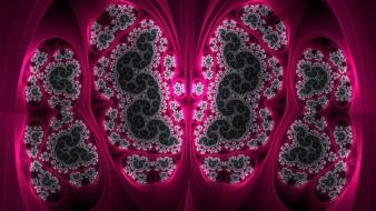 Abstract pink fractals digital art fractal Wallpaper