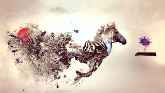 Animals artwork desktopography Wallpaper