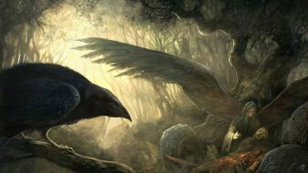 Art goddess ravens celtic mythology badb catha wallpaper