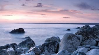 Beach england rocks united kingdom panorama seascapes Wallpaper