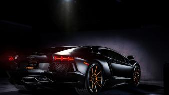 Black cars lamborghini aventador exotic wallpaper