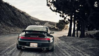 Black cars outdoors porsche 996 carrera wallpaper