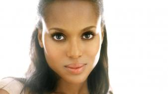 Brown actors faces white background kerry washington wallpaper