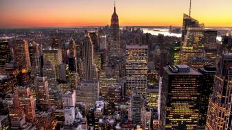 Building street skyline rivers hudson river cities wallpaper