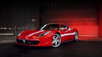 Cars ferrari 458 italia red Wallpaper