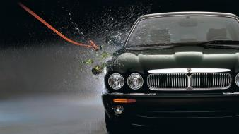 Cars glass jaguar boats champagne smash Wallpaper