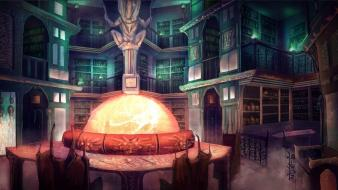 Concept art artwork arches shelves interior spaces wallpaper