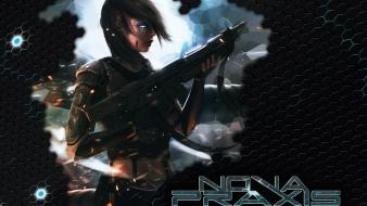Cyborgs nova science fiction transhuman wallpaper
