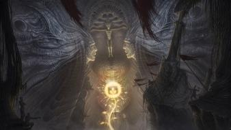 Dark fantasy art underground desktopography gods wallpaper