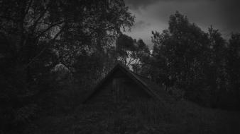 Dark fences russia grayscale depressing wallpaper