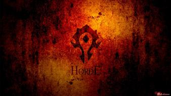 Dark red world of warcraft horde rusted wallpaper