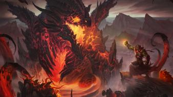 Dragons world of warcraft cataclysm thrall orc wallpaper