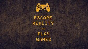 Escape reality keep calm and simple games controller wallpaper