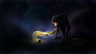 Fantasy art panthers artwork fangs vessel guenhwyvar wallpaper