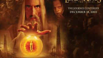 Film wizards saruman christopher lee two towers wallpaper