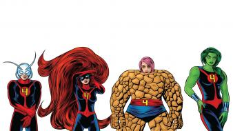 Four medusa she-hulk antman thing (ben grimm) wallpaper
