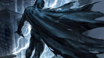 Gotham city lightning the dark knight returns wallpaper
