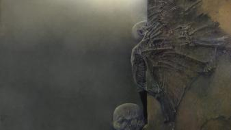 Horror creepy paintings skeletons artwork zdzislaw beksinski wallpaper