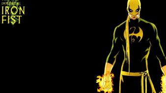 Iron fist artwork marvel comics black background wallpaper
