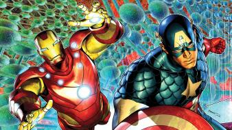 Iron man comics captain america wallpaper