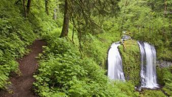 Landscapes nature falls oregon creek columbia wallpaper
