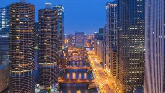 Landscapes nature illinois downtown chicago wallpaper